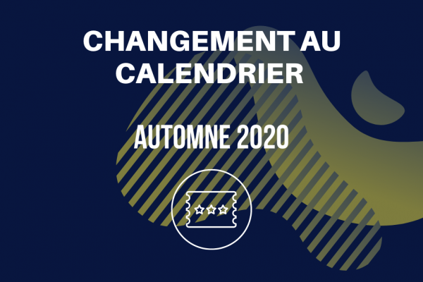 MODIFICATIONS À LA PROGRAMMATION 2020-3