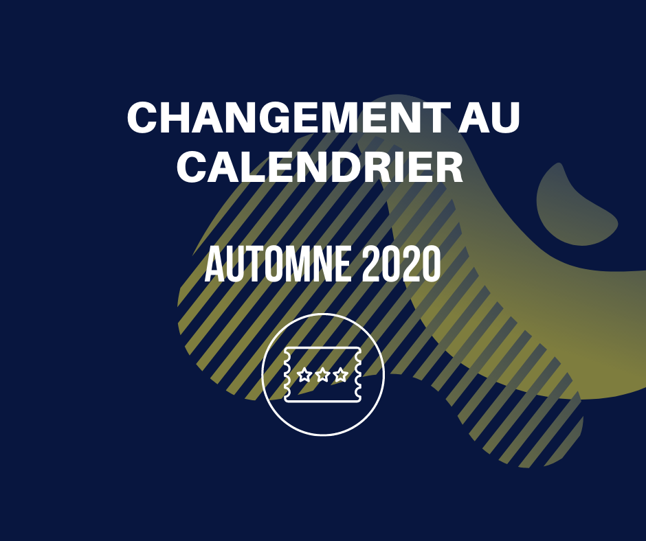 MODIFICATIONS À LA PROGRAMMATION 2020-3