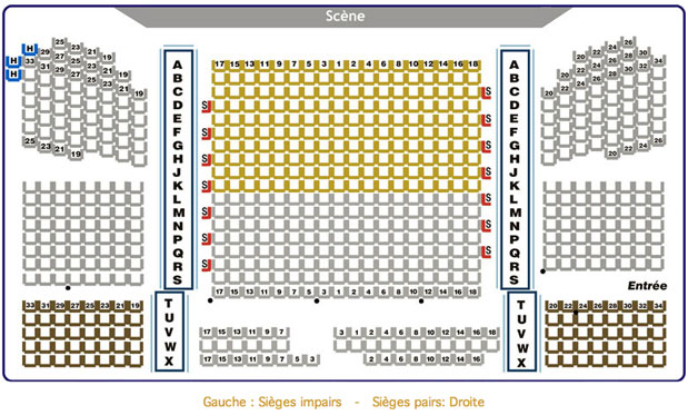 Th tre le patriote plan de salle - Plan salle theatre porte saint martin ...
