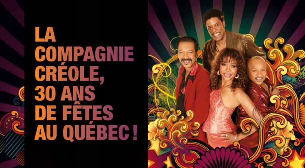 Groupe La Compagnie Créole 30 ans de fêtes au Québec