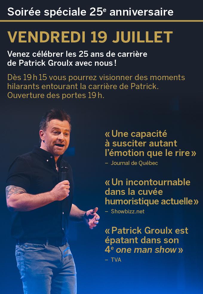 Patrick Groulx en spectacle au Patriote