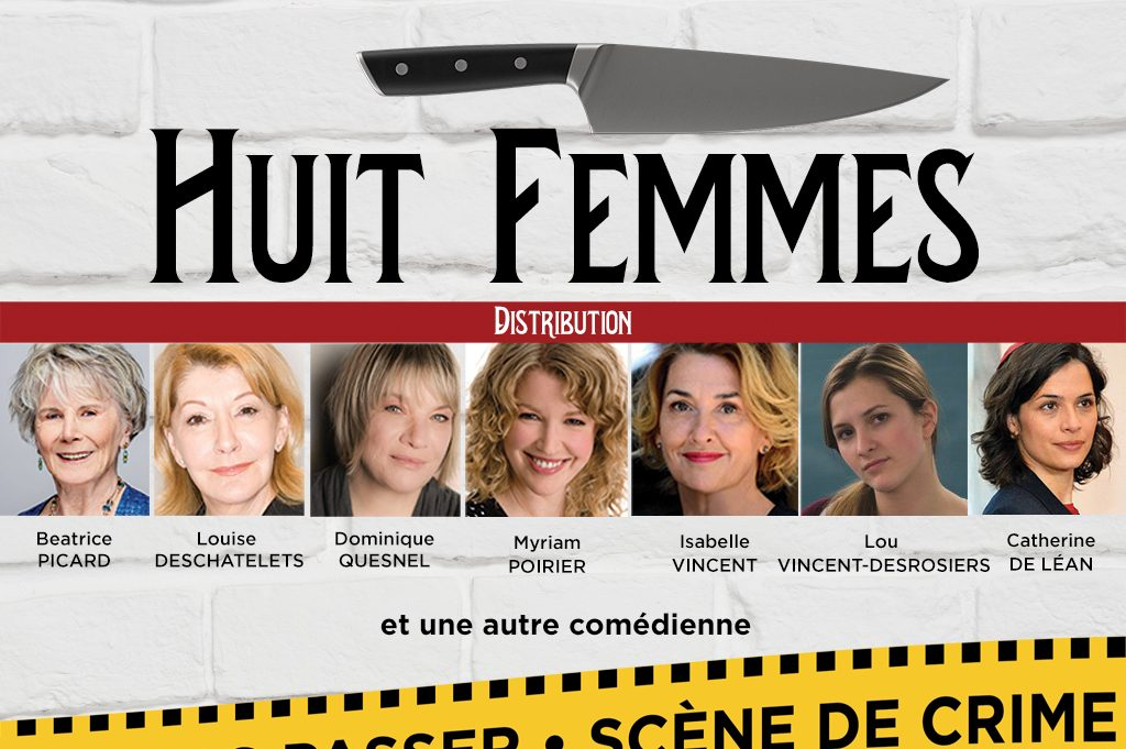 Huit femmes une pièce présentée au Patriote en 2020