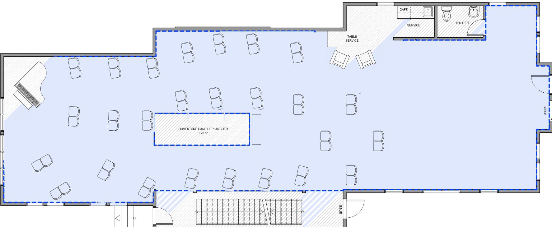 Plan de salle Galerie ROD